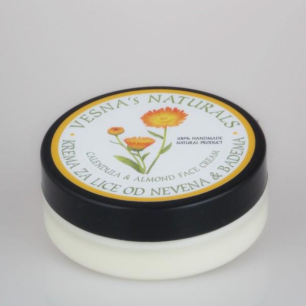 VESNA'S NATURALS - krema za lice neven badem